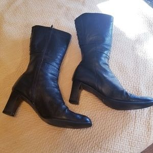 Sesto meucci tall black boots zip up boots